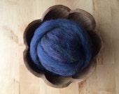Wool roving supply for needle felting, Rainbow Opal Blue, 1 ounce