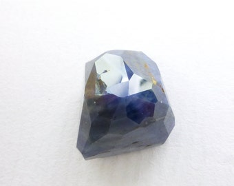 SAPPHIRE. 100% Natural. Blue Unheated / Untreated. Micro Facet Rose Cut. Freeform. 1 pc. 23.85 cts. 12x14x13 mm (S1772)