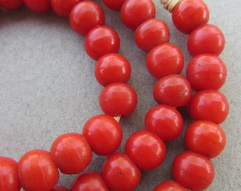 Old Red African Padre Beads