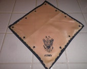 Vintage WWII Army hankie unused   free ship