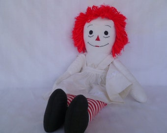 Vintage Raggedy Ann Cloth Doll Handmade