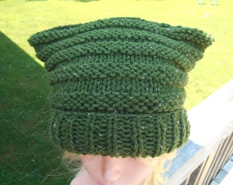 Cat Ear Hat. Green Animal Ear Hat. Winter Beanie. Halloween. Comic Con. Conventions.