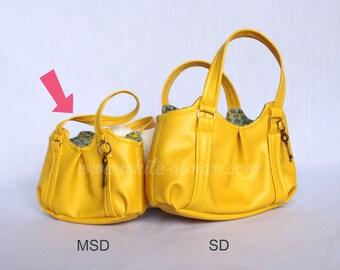 Yellow Emmaline Bag-- MSD 1/4 scale BJD PU Handbag