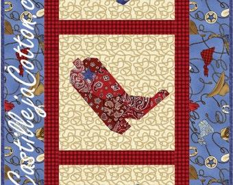 Cowboy Quilt Pattern Etsy