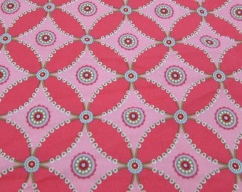 Crisscross Fabric in Pink, Michael Miller DC4030 1 yard