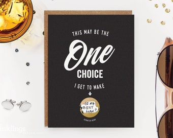 6 Scratch-off Groomsman/Best Man Cards // Be My Groomsman Card, Be My Usher Card, Be My Best Man Card // One Choice