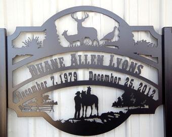 Memorial Marker Sign