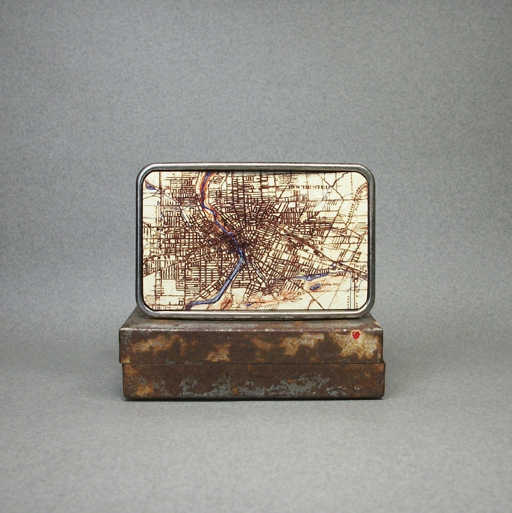 Belt Buckle Vintage Rochester New York Map By
