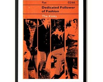 Kinks Dedicated Follower of Fashion inspired Wall Art Poster