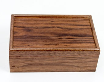 Black Walnut and Santos Rosewood Keepsake Box *SECOND*