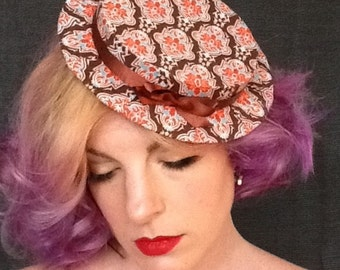 Womens Boater Hat in - Baroque Beauty