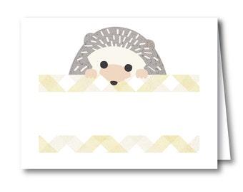 Hedgehog Tent Sign, Food Sign for Your Woodland Baby Shower // BABY HEDGEHOG