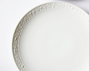 Fidelia Pattern Gorham China Replacement Pieces - Embossed Edge Elegant White Dinnerware  Made In Bavaria - Vintage Dinner And Salad Plates