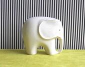 Mid-Century Modern Porcelain Elephant Figurine