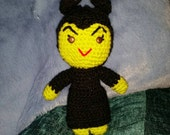 "crochet doll villain evil maleificent queen green 6"" sci-fi geek retro gift vegan cartoon amigurumi disnyana"
