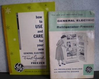 Vintage Mid Century Owner's Manual - General Electric Refrigerator Models CA-373, CA-376