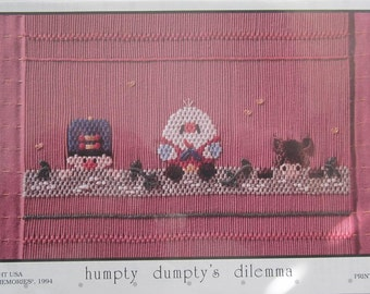 Smocking Plate - Humpty Dumpty's Dilemma by Little Memories (book 5)