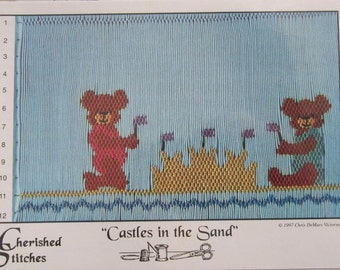 Smocking Plate - Castles in the Sand by Cherished Stitches Chris DeMars Victorsen (book 5)