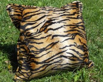 Tiger Print Pillow - 18 X 18 - contains pillow insert