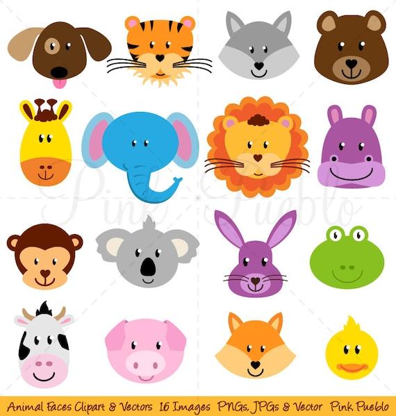 animal faces clipart clip art zoo jungle farm barnyard forest zoo animals clip art free zoo animal clip art printables free