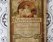 Antique Book Free Shipping German Gebethiichlein 1900 Christian Children's Prayer and Poetry Book Lots of Beautiful Engravings