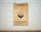 Transmogrification  // Vintage Science Experiment Warning Poster // Finge Inspired Wall Art for the Budding Mad Scientist