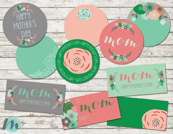 Mother S Day Tags: Happy Mother's Day Mom Gift Tags Mother's Day Gift