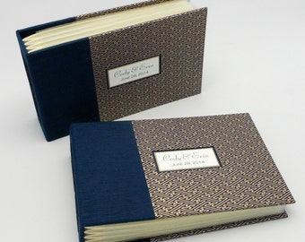 Set of Two Custom Personalized Mini Photo Albums, Parents' Albums or Brag Books for 4x6 Photos, Made to Order