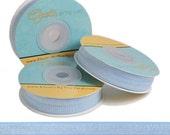 "Misty Blue - Fold Over Elastic - Solid FOE - 5/8"" Wide - 5 Wholesale Yards"