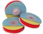 """Red - Fold Over Elastic  - Solid FOE - 5/8"""" Wide - 5 Wholesale Yards"""