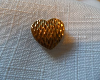 Vintage Sterling Silver 2 Tone Heart Pendant