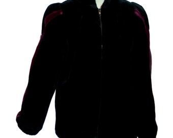 Outerlayers Black Faux Fur Jacket Disco /Glam size 9/10