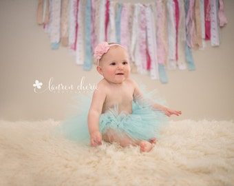 Aqua Tutu - First Birthday Tutu - Custom Aqua Tutu