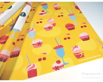 Wrapping paper Gift Paper SWEETS Set of 10 Sheets