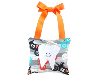 Tooth Fairy Pillow Boys Tooth Fairy Door Personalized Tooth Fairy Pillow Gift for Boys Personalized Kids Tooth Fairy Pouch