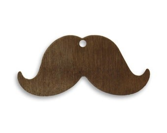 Vintaj, Natural Brass Mustache, Qty 2