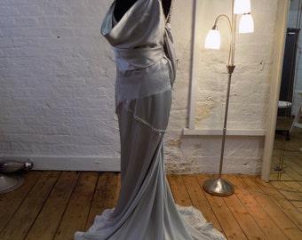 Custom Bridal Couture: Silk Wedding dress. Design your own SILK wedding dress. Bespoke designed and handmade in England.
