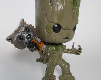 Groot + Rocket Custom Funko POP