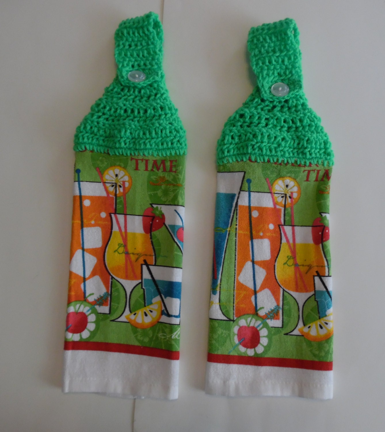 crochet summer towel kitchen towel kitchen by donnascraftcorner