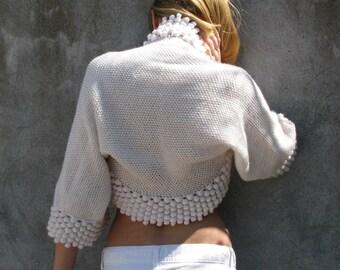 déesse de l'amour... XS ... Bridal Accessories Shrugs & Boleros  white knit/crochet