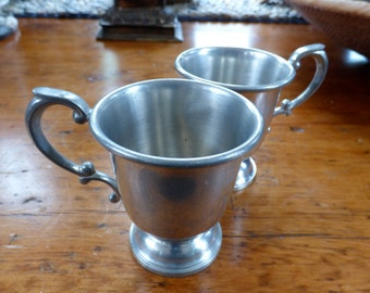 Two Rinac Pewter Mugs Numbered 803 and 603