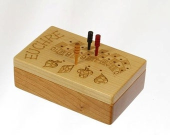 Euchre is a lot like sex.....  Euchre Score Counter, Solid Wooden Euchre Counter Set -Laser Engraved,  Paul Szewc, Masterpiece Gallery