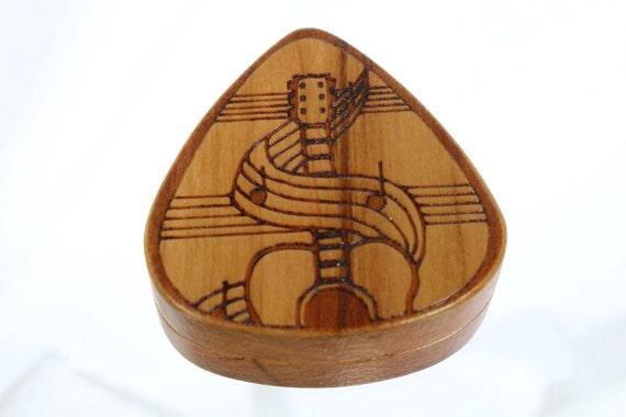 guitar pick box pattern 5 solid cherrywood laser by paulszewc. Black Bedroom Furniture Sets. Home Design Ideas