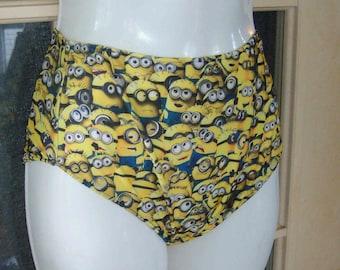 Minions high waisted bikini bottom spandex panties
