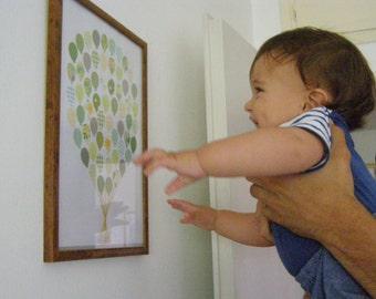 Kids Wall Art / Baby Shower Gift / New Baby Gift / Nursery Decor / Balloon Bouquet / Nursery Wall Art / Nursery Art / Game Room Decor /