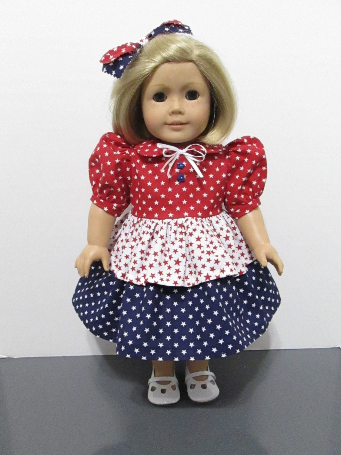 American girl or 18 inch doll clothes 2 pc patirotic stars for Garden tools for 18 inch doll