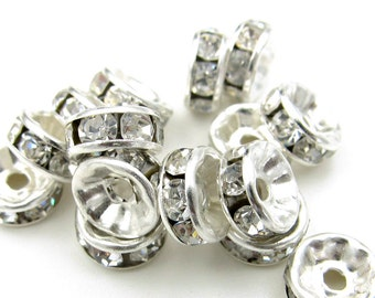 30Pieces Alloy Metal Loose Beads DIY Jewelry Accessories Finding 8mm*4mm  ja634