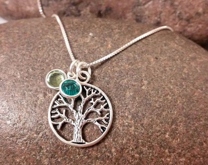 SALE Tree of Life Necklace with birthstones