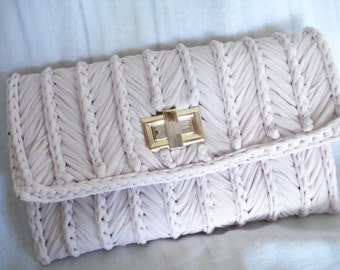 Pink clutch, Bridal clutch, Clutch bag, Clutch purse, Envelope clutch, Gift for her, Handmade clutch, Crochet clutch, Wedding purse.