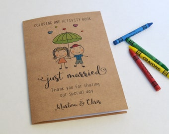 Wedding coloring book / Kids wedding activity book / Wedding favor / Coloring book for kids
